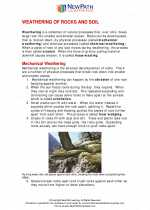 Weathering of rocks and soil formation