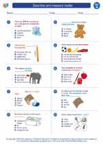 Describe and measure matter. Science Worksheets and Study ...