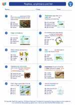 Reptiles, amphibians and fish