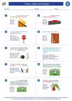 Force, motion and energy. Science Worksheets and Study Guides Fifth ...