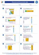 Elements and the periodic table science worksheets and study worksheet elements and the periodic table urtaz Images
