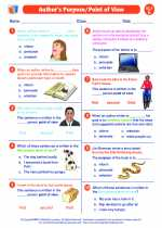 Author S Purpose Point Of View English Language Arts Worksheets And