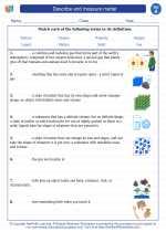Describe and measure matter